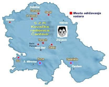 Karta sa mestima gde možete naći naše proizvode