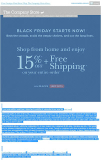 Click to view this highlighted Nov. 25, 2011 Company Store email full-sized