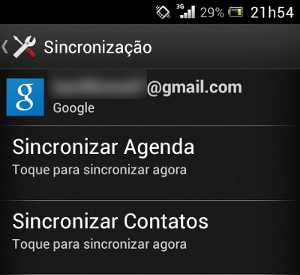 sincronizar contatos android