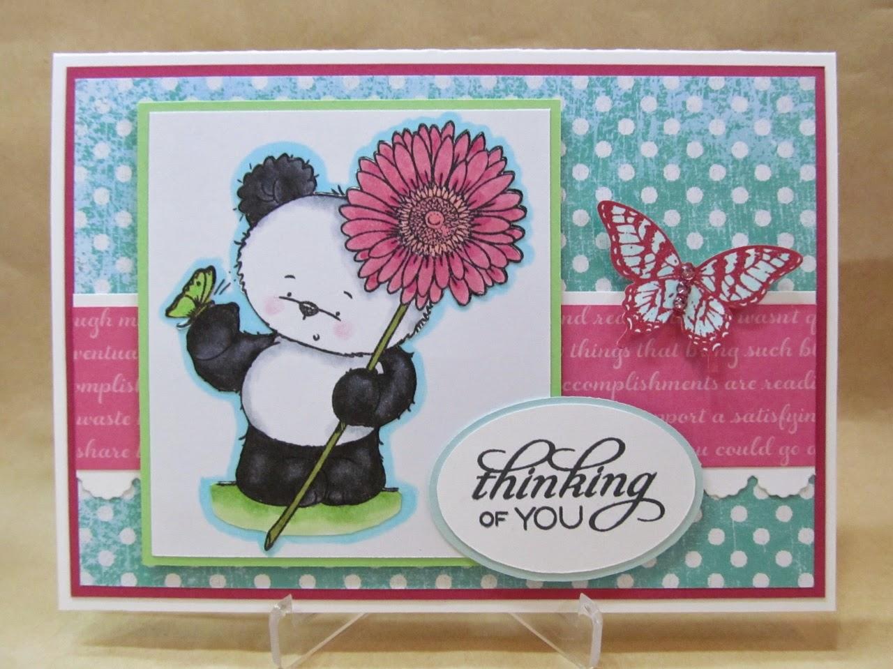 Savvy Handmade Cards Panda Thinking Of You Card