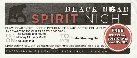 Black Bear Smokehouse Spirit Night
