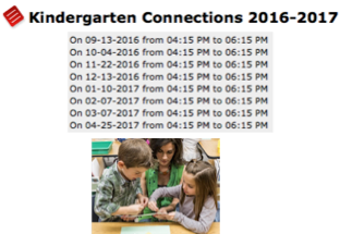 Kindergarten  Connections in  PVUSD