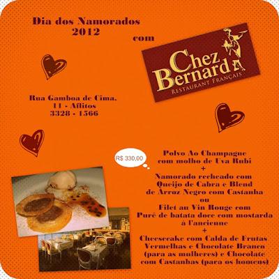 Sugestão para comemorar o Dia dos Namorados 2012: Chez Bernard