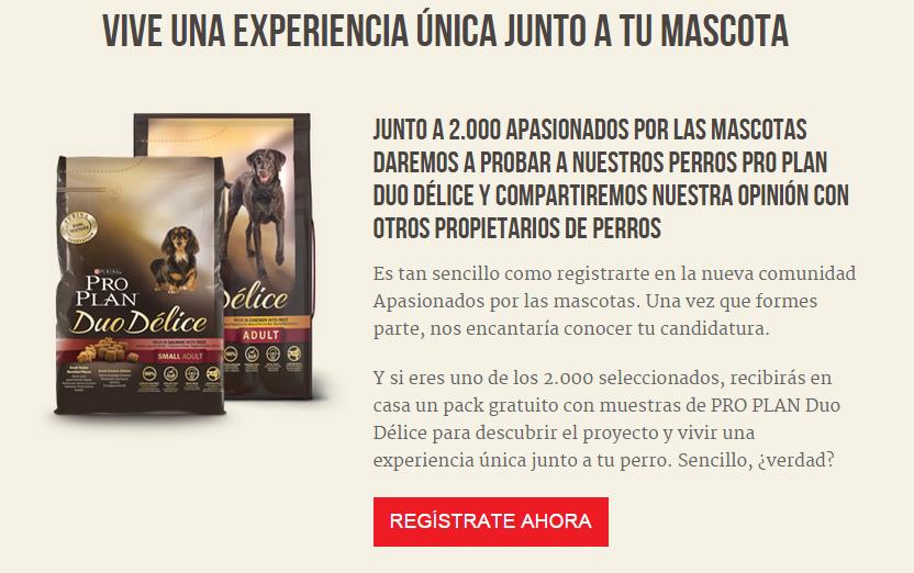 muestras gratuitas para perros