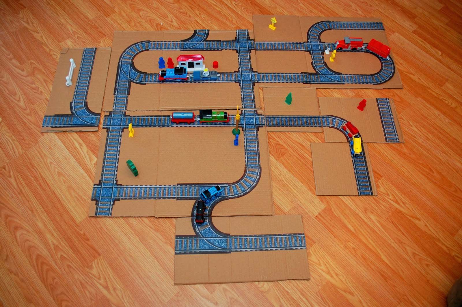 assembled printable train track panels