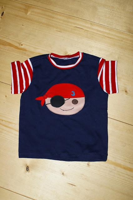 Piraten nähen auf shirt