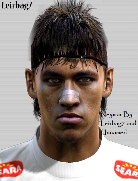 PES 2012 Neymar Face by Leirbag7 & Unnamed