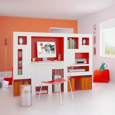 Decoración de interiores: Separador de Ambiente de Oficina en Casa