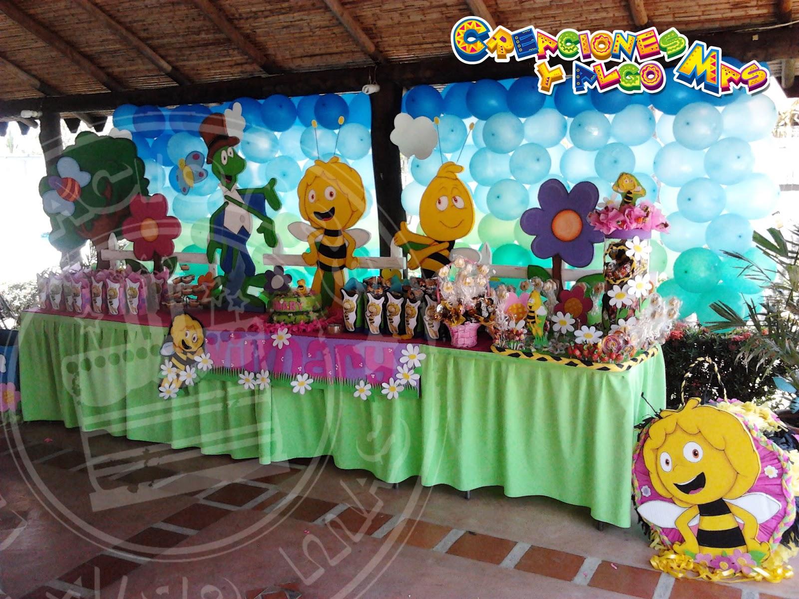 Fiesta la abeja maya maya bee party creaciones y algo mas - Decoracion party ...