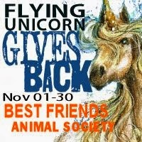 Flying Unicorn Gives Back