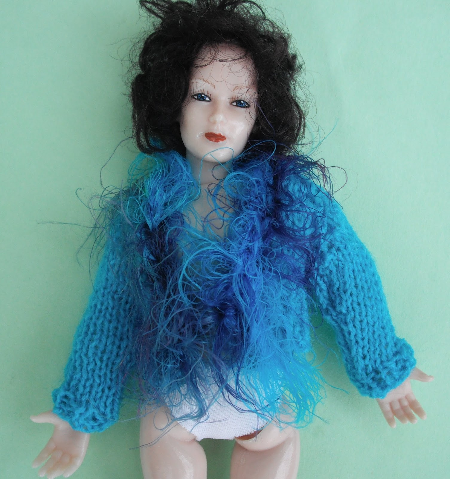 Knitting Patterns For Dollhouse Dolls : bitstobuy: Free gift with all website orders in June of ready knitted jacket