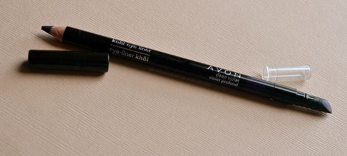Avon Kohl Eyeliner Pencil Deep Violet Profond Indian Darker Skin Makeup beauty Blog Photos Review Swatch FOTD