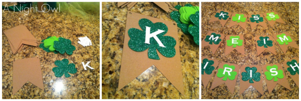 Make an easy and fun St. Patrick's Day Banner in just minutes!