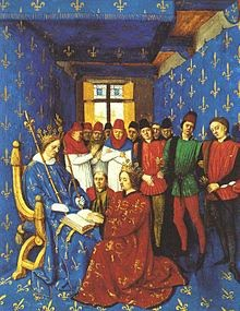 Edward I Paying Homage to Philip IV