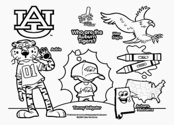 Ncaa College Football Helmets Coloring Pages Colorings Net College Football Coloring Page