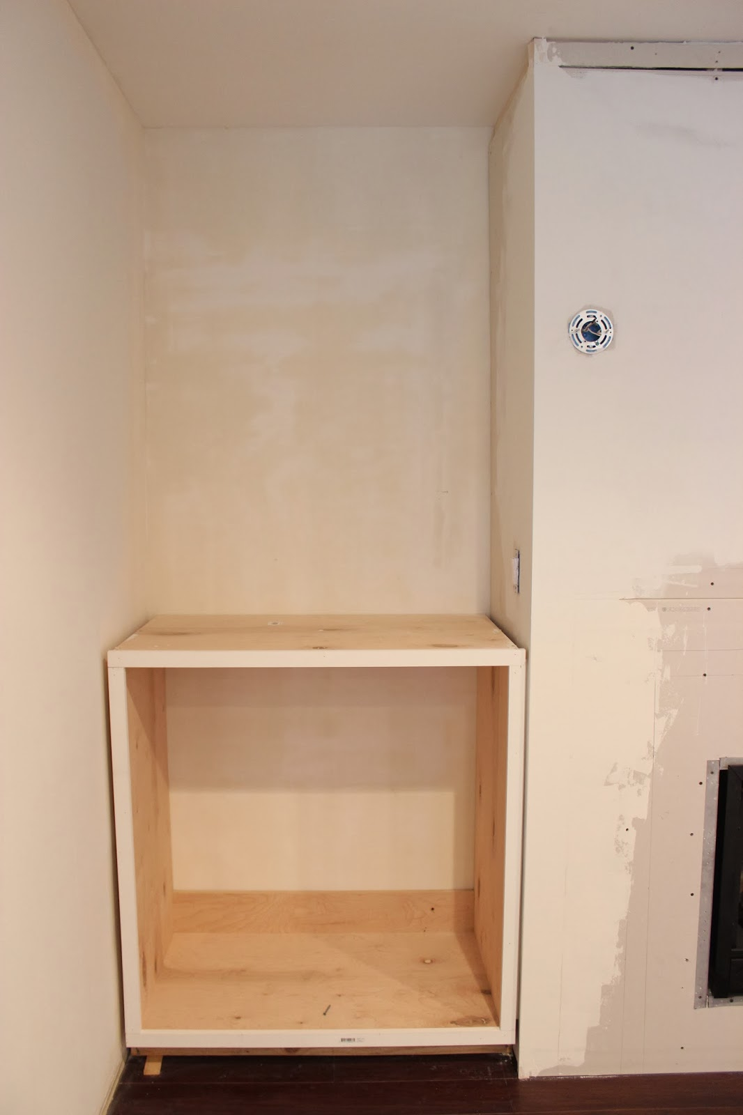 Simple Wall Cabinet Built In Fireplace And Cabinets Tutorial Dream Book Design