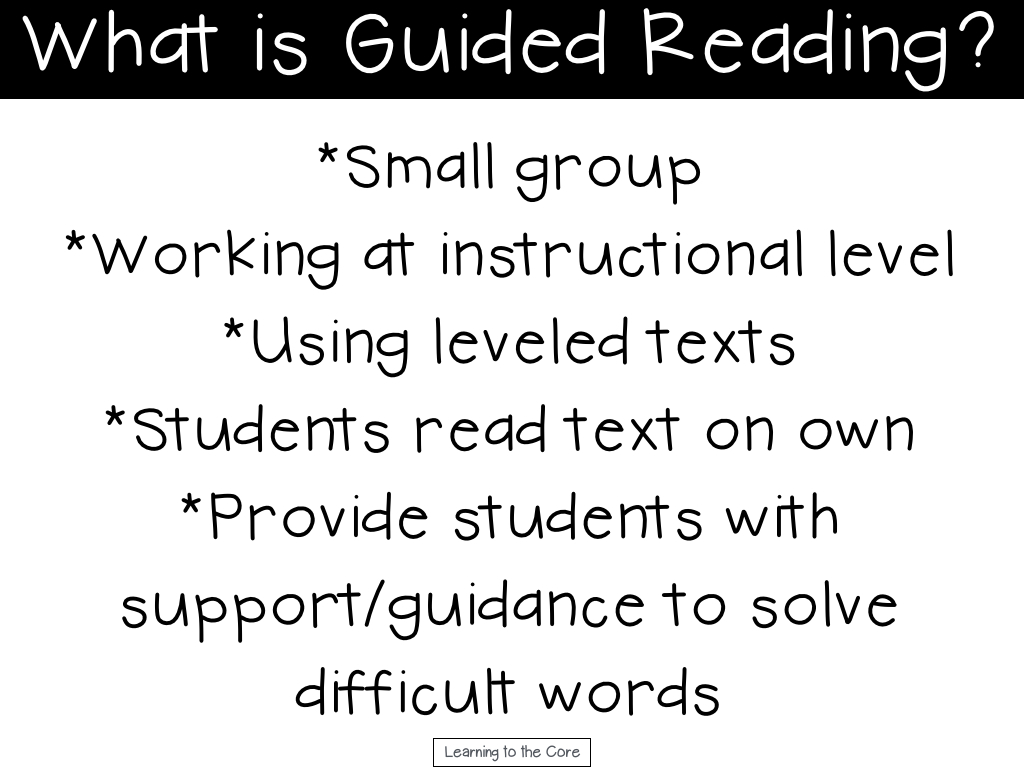 guided reading what is it