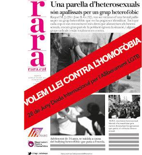 Agenda de treball contra l'homofòbia.