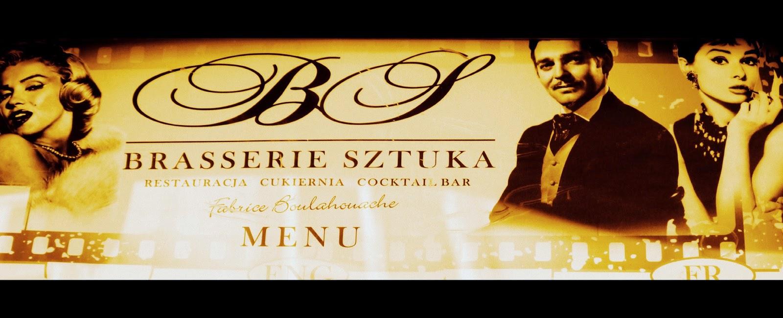 Brasserie Sztuka, św. Jana 6, Kraków, menu