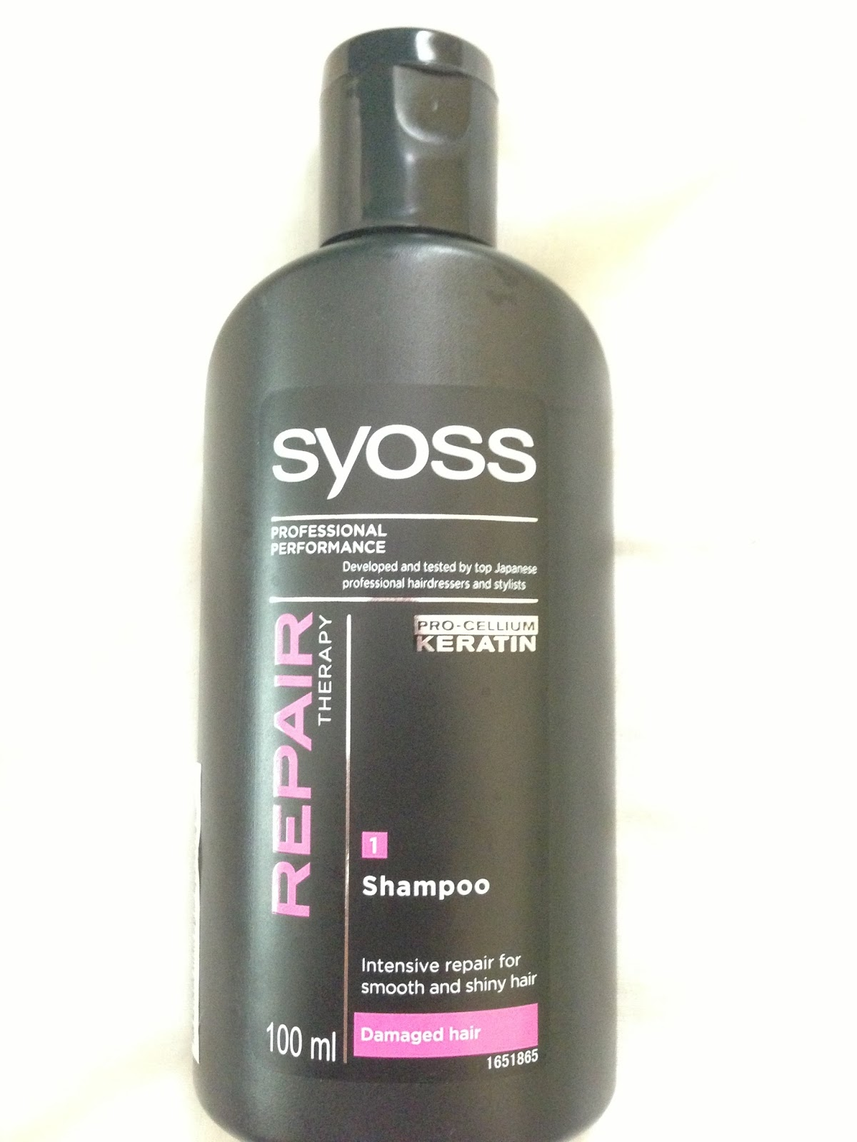 Random Things About Katy Review Syoss Shampoo For Damaged Hair