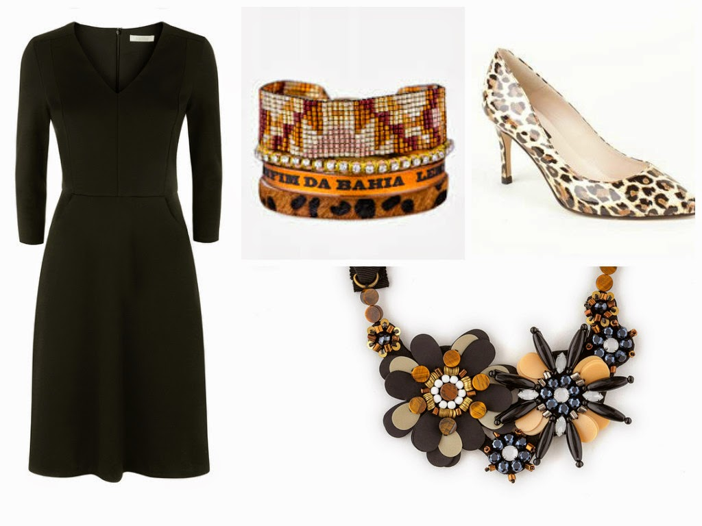 Outfit Post: LBD with Leopard Accessories - What Lizzy Loves