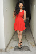 Saiyami Kher Hot in Red at Rey Trailer launch-thumbnail-10