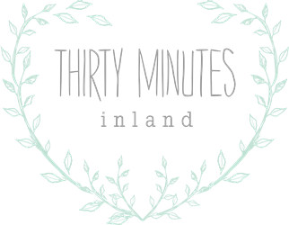 thirty minutes inland