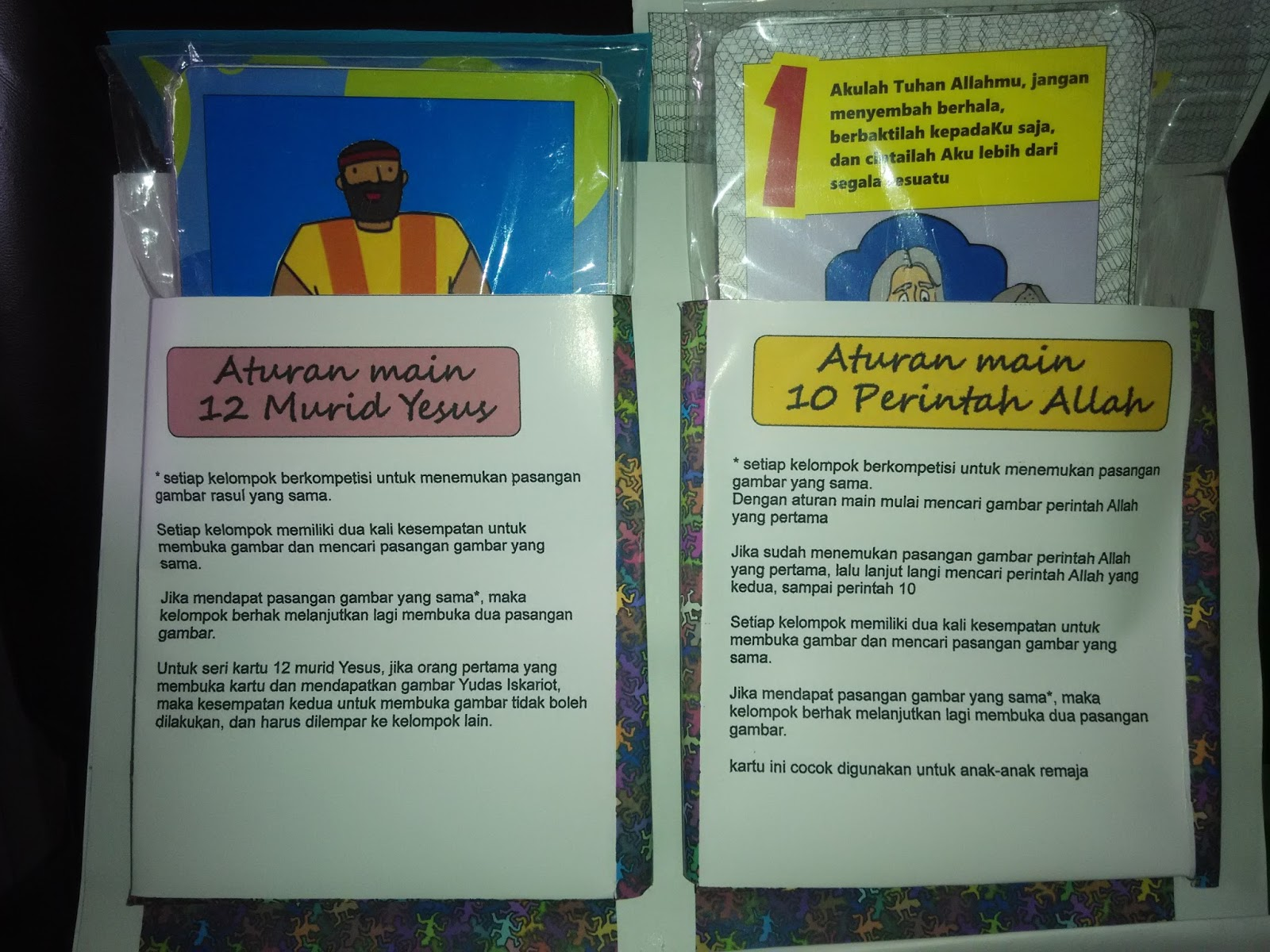 contoh isi dari kartu bingo