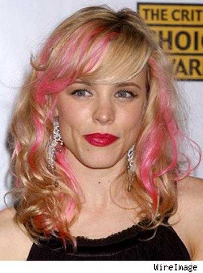 rachel pink hair