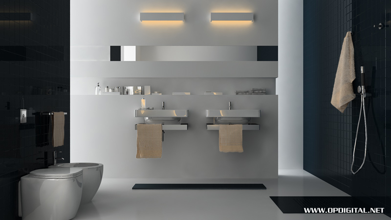 Modern Urban Bathroom Interior