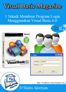 Download Free Ebook - 3 Teknik Membuat Program Login Menggunakan Visual Basic 6.0