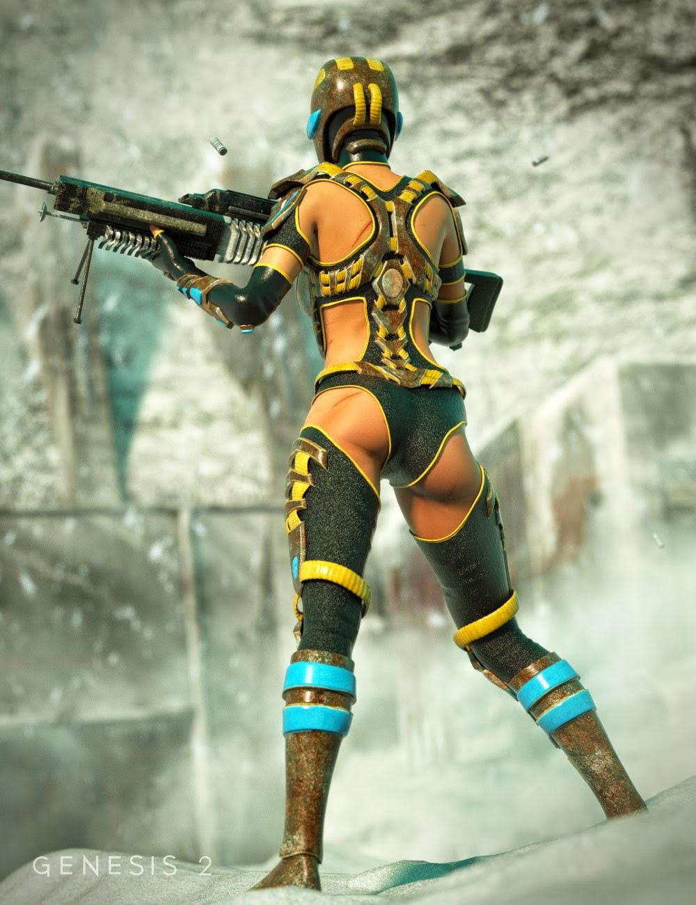 Scifi Sniper costume pour Genèse 2 Femme