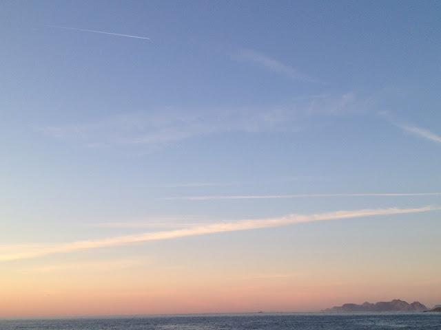 Atardecer, puesta de sol, Bayona