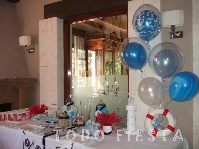Decoraci n con globos de todo fiesta decoraciones para 1 for Decoracion casa marinera
