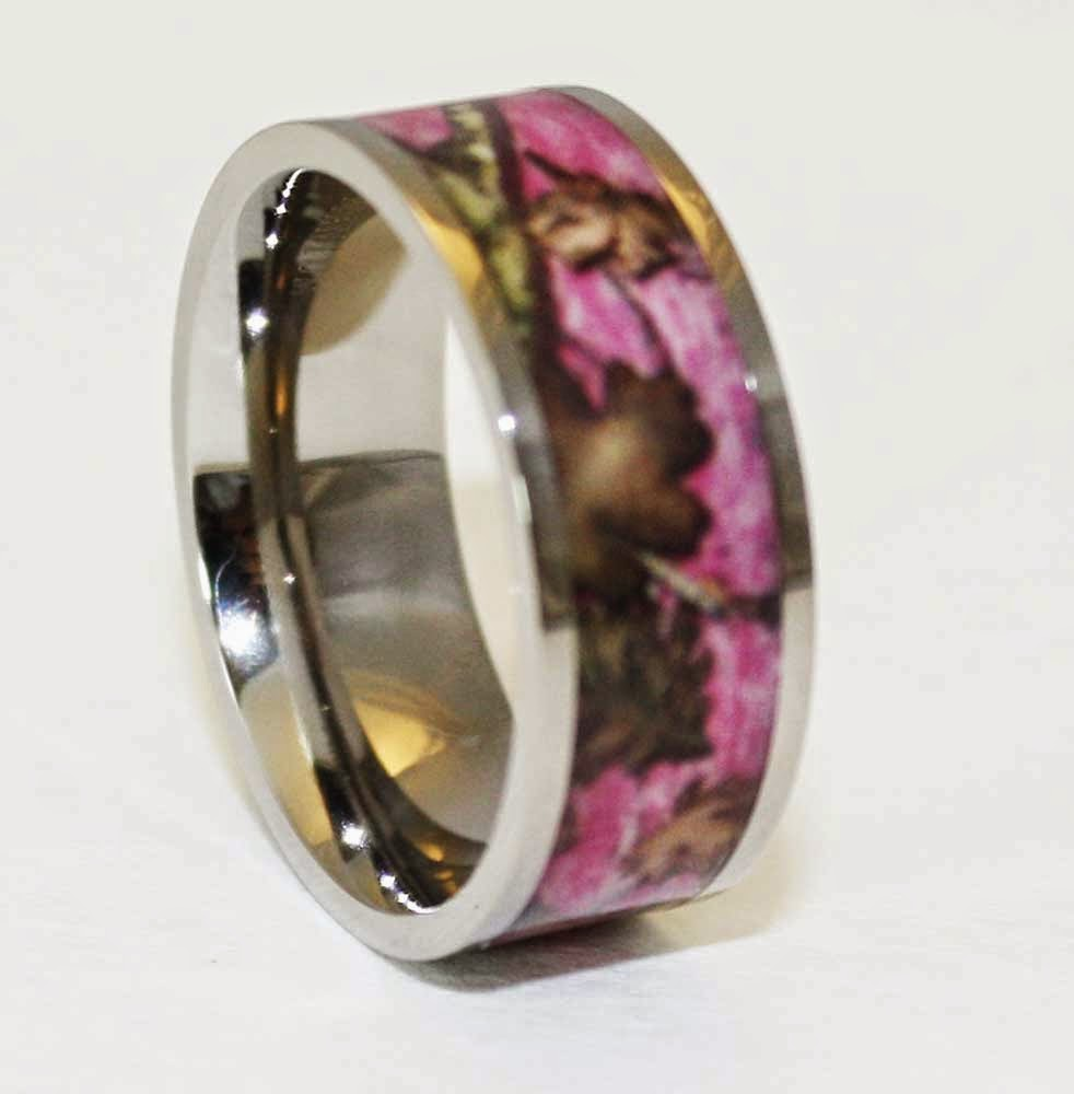 Womens Camo Wedding Rings with Beautiful Pattern Design pictures hd