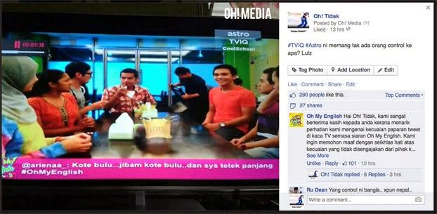 Paparan Mesej Lucah Dalam Oh My English, Astro Mohon Maaf