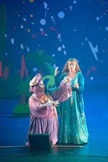 IN PERFORMANCE: Countertenor MICHAEL MANIACI as Zaida (left) and soprano FRANCESCA LOMBARDI MAZZULLI as Zelemina (right) in Pier Francesco Cavalli's VEREMONDA, L'AMAZZONE DI ARAGONA at Spoleto Festival USA, 2 June 2015 [Photo © by Julia Lynn Photography]