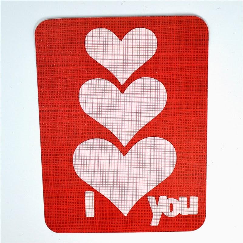 Capadia Designs: Three Heart Valentine Card