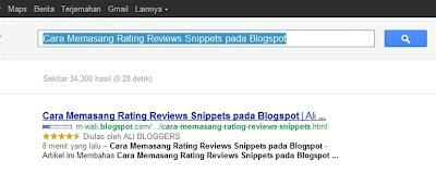 Cara Memasang Rating Reviews Snippets pada Blogspot Cara Memasang Rating Reviews Snippets pada Blogspot