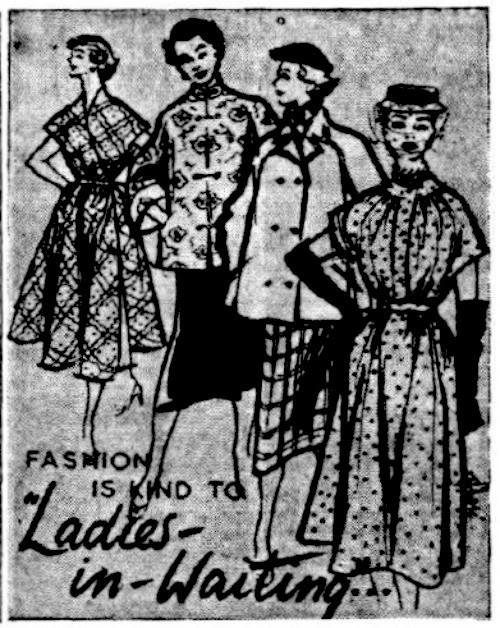 1953 Maternity Fashion Sketches