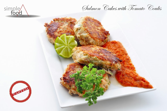 Salmon Cakes with Tomato Coulis ~ Simple Food