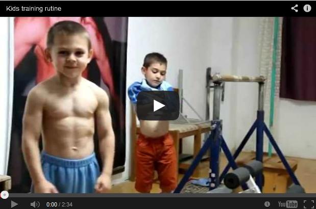 Video ahli bina badan berusia sembilan tahun ini mengejutkan