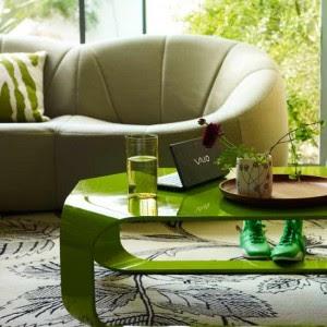 sala con verde
