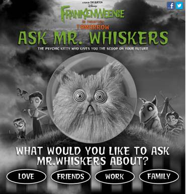 Disney's Frankenweenie Ask Mr. Whiskers