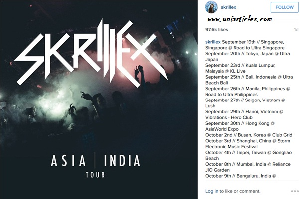 EDM Superstar Skrillex To Tour India! |Hyderabad |Mumbai |Delhi |Bangalore Show Detail