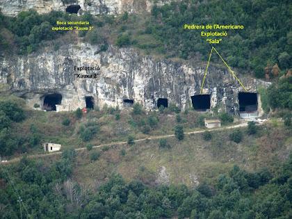 """Vista en més detall de les explotacions """"Xauxa-2"""" i """"Sala"""""""