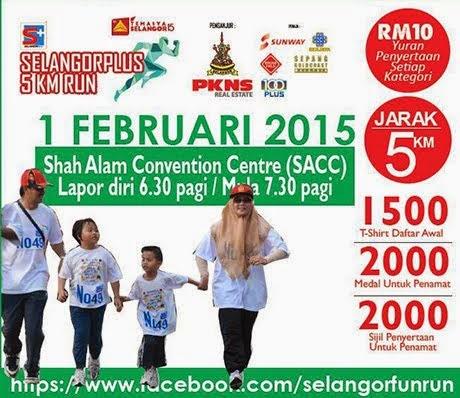 Selangor Plus Fun Run pada 1 Feb 2015