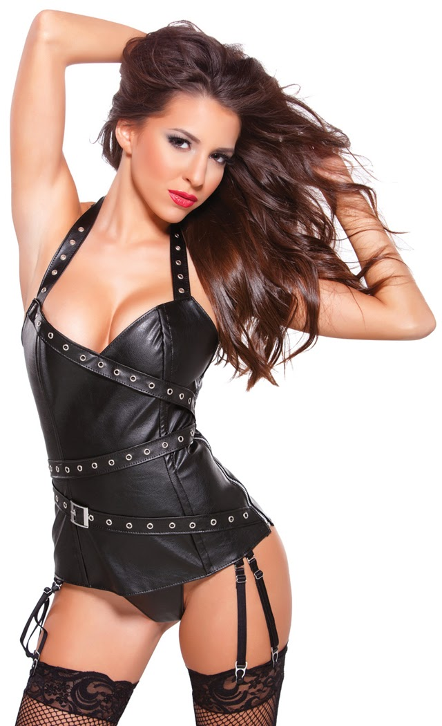Women's Faux Leather Halter Corset