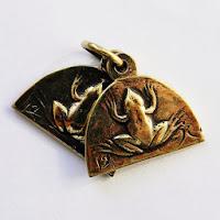 кулон жаба лягушка из бронзы купить в украине россия украшения