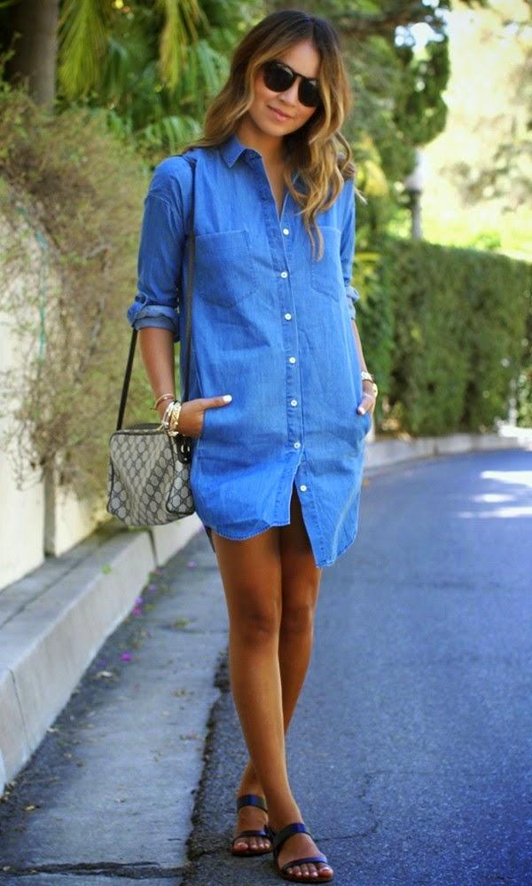 Vestido camisa jeans Gosto Disto!